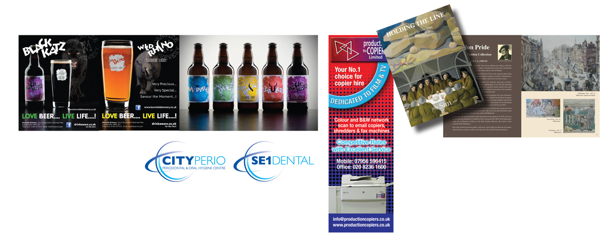 Leaflets, Brochures, Display Graphics - Designed in Medway